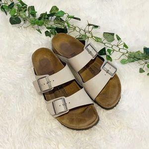 Birkenstock Cream Two Strap Sandals 39